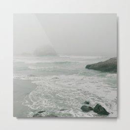 Sutro Baths in the Fog Metal Print