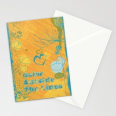 Color Outside The Lines Stationery Cards