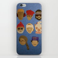 wes anderson iPhone & iPod Skins featuring Wes Anderson Hats by godzillagirl