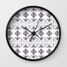 Tribal Triangles Wall Clock