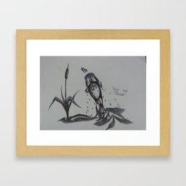 Largemouth Bass Leaping Framed Art Print