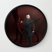 crowley Wall Clocks featuring Crowley by Jennilah