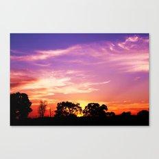 East Texas Sunset Canvas Print