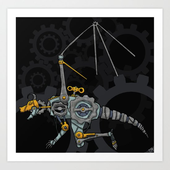 Clockwork Dragon Art Print