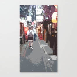 Strolling around in Shinjuku Canvas Print