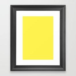 Lemon yellow Framed Art Print