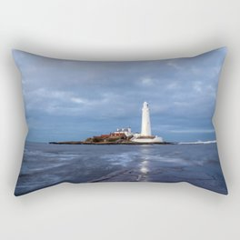 Dusk at St Mary's Lighthouse II Rectangular Pillow
