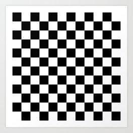 Checkered (Black & White Pattern) Art Print