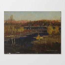 Tom Thomson Autumn Evening, Burnt Land 1912 or 1913 Canadian Landscape Artist Canvas Print