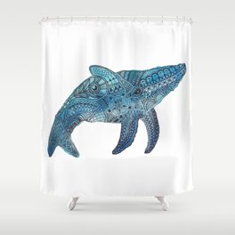 Blue Whale Shower Curtain