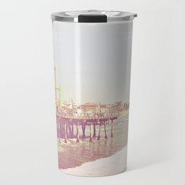 Santa Monica Pier Vintage Travel Mug