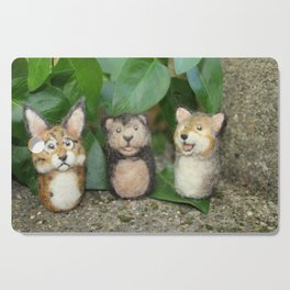 Felted Animal Miniatures Cutting Board