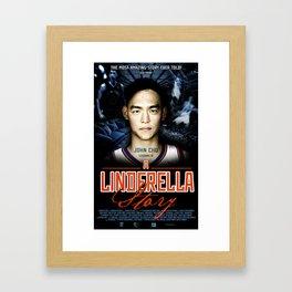 A Jeremy Lin Inspired Poster Framed Art Print