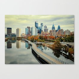 Philadelphia Fall Skyline Canvas Print
