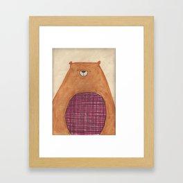 Hey, it's me Beary. Framed Art Print