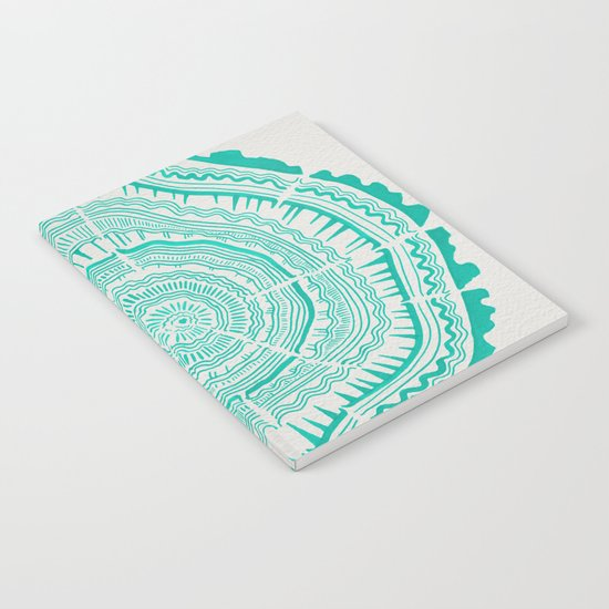 Turquoise Tree Rings Notebook
