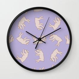 Rotated Schnauzer Pattern Wall Clock