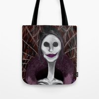 coraline Tote Bags featuring Coraline: The Other Mother by SwinkArt