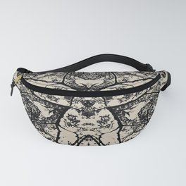 Black Flora No 1 Fanny Pack