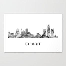 Detroit, Michigan Skyline WB BW Canvas Print