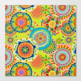 Folk Mandala Canvas Print