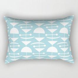 Retro Mid Century Modern Abstract Mobile 676 Blue Rectangular Pillow