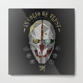 In Corvo We Trust v1 Metal Print