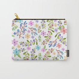 Pastel twigs floral waterolor pattern Carry-All Pouch