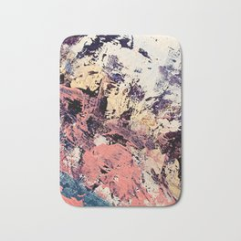 Brilliance: vibrant, colorful and textured in purple, gold, pink, blue, and white Bath Mat
