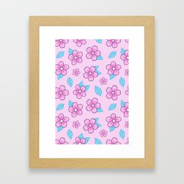 Sakura // Pink Framed Art Print
