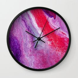 Red Geostone Wall Clock