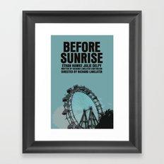 Before Sunrise Movie Poster Framed Art Print
