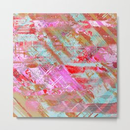 Confidence - Abstract, textured oil painting Metal Print
