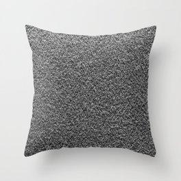 Gray Fleecy Material Texture Throw Pillow