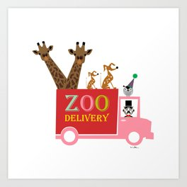 zoo delivery Art Print