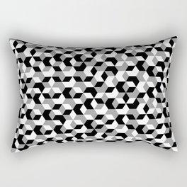 Hexagon(mono) #1 Rectangular Pillow