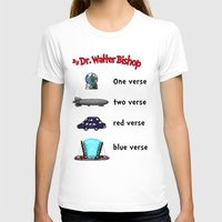 bible verse T-shirts featuring Fringe One Verse, Two Verse, Red Verse, Blue Verse by Passive Fluency
