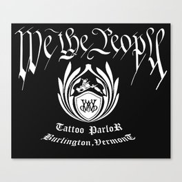 WE THE PEOPLE TATTOO PARLOR Canvas Print