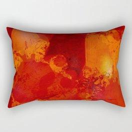 Profondo Rosso Abstract Art Expressionist Rectangular Pillow