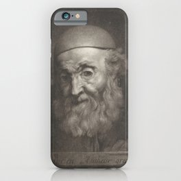 Rembrandt - Portrait of the Writer Lucian of Samosata iPhone Case