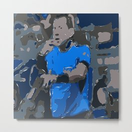 Football Ref Art Metal Print