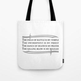 Battle Mantra Tote Bag