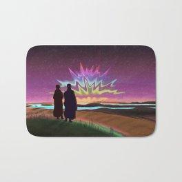 Psychedelic sunset Bath Mat