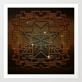 Abstract metal structure Art Print