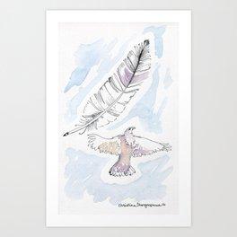 Hawk in the Sky Art Print