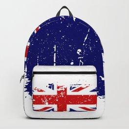 Distressed Virgin Islands Flag Graffiti Backpack