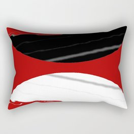 red black white grey abstract digital painting Rectangular Pillow