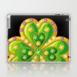 Jewelry shamrock Laptop & iPad Skin