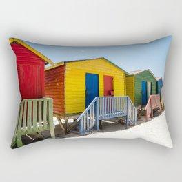 Colorful beach huts Rectangular Pillow