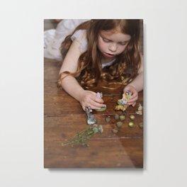 a miniature teaparty Metal Print